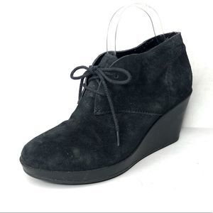 Cole Haan suede wedge ankle booties